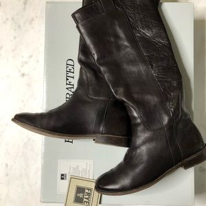 Frye Paige Tall Riding Boots in Dark Brown